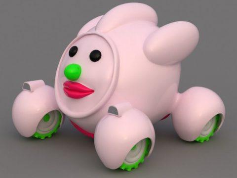 Cute Cartoon Car 3D model