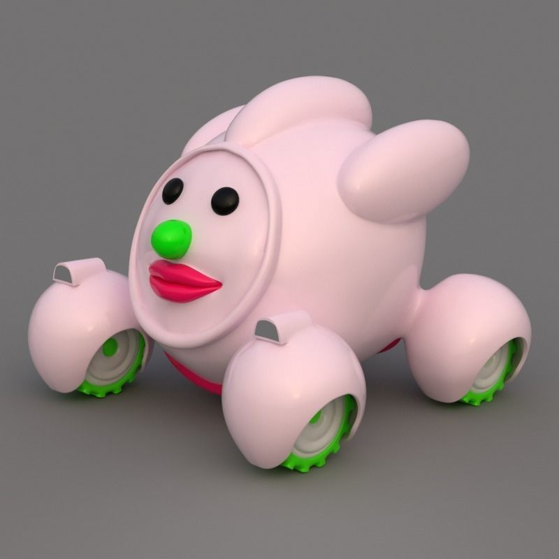 Cute Cartoon Car 3D model