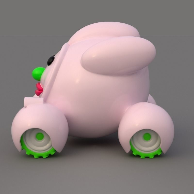 3D Cute Cartoon Car model
