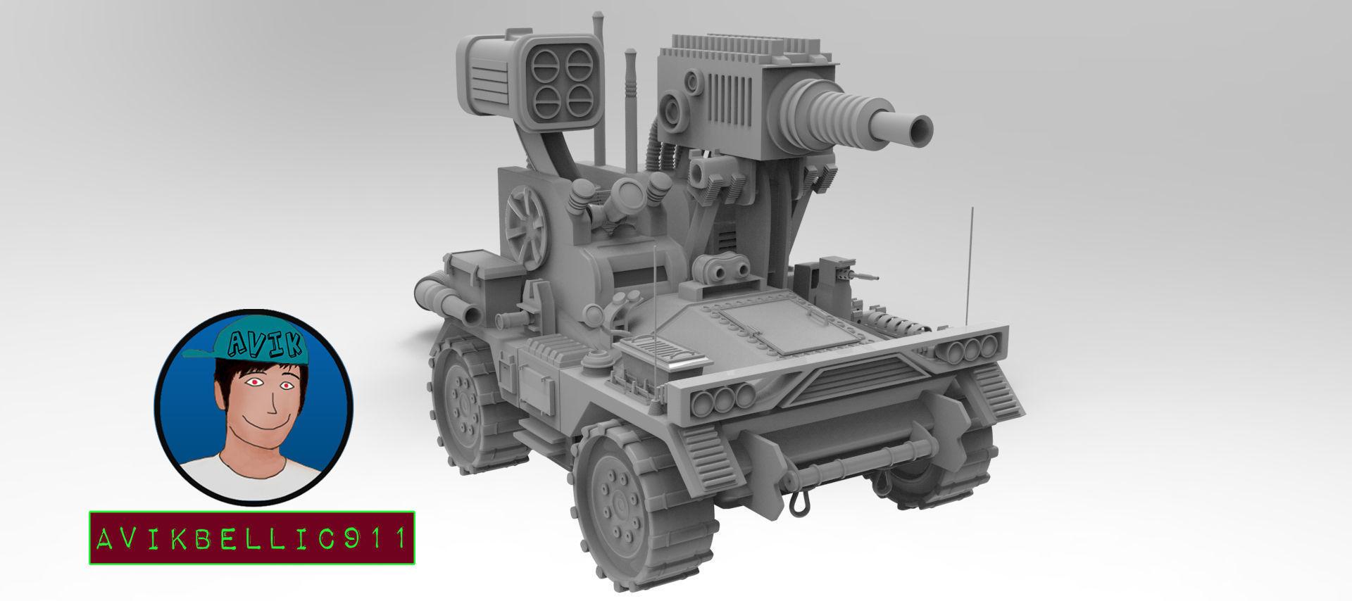 Experimental Military Car 3D model