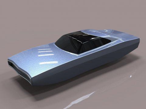 Flying Dodge Charger 3D model