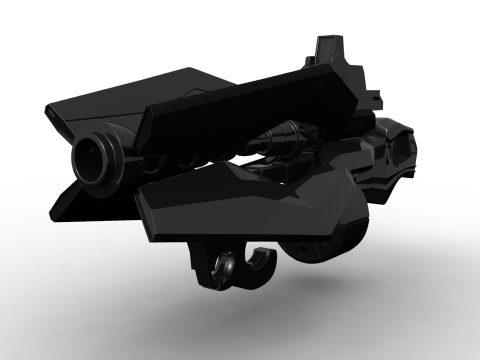Futurist gun prototipe 3D model