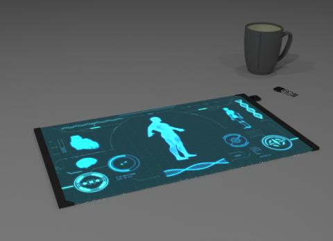 Futuristic Tablet 3D model