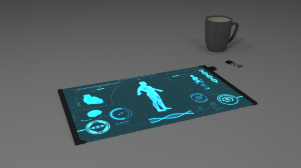 Futuristic Tablet 3D model