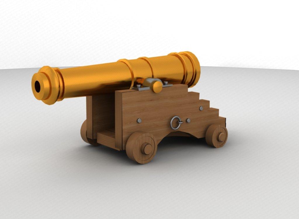 3D Cannon model