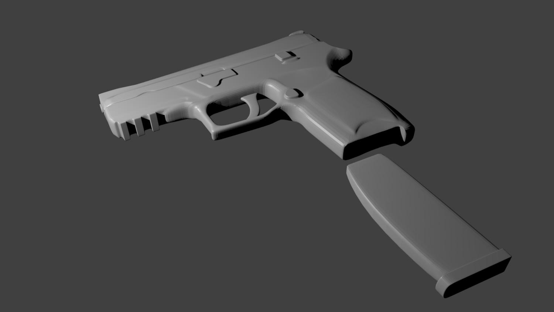 3D Handgun model