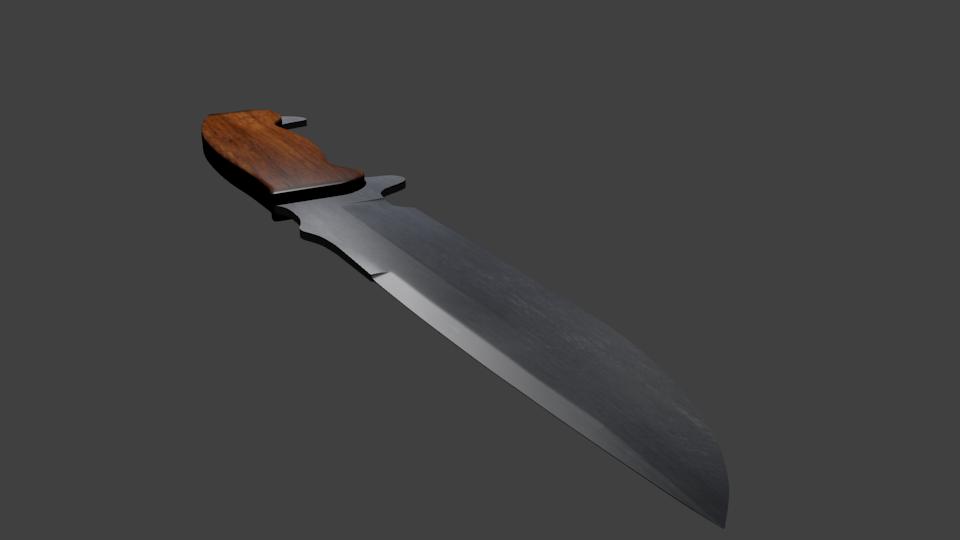 Hunter Knife 3D model