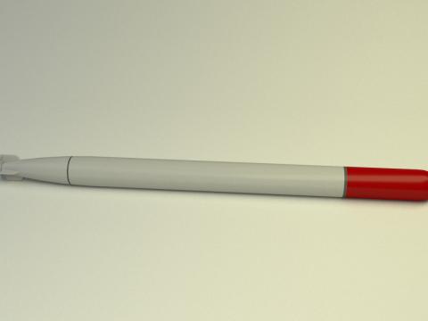 Japanese torpedo type 93 3D model