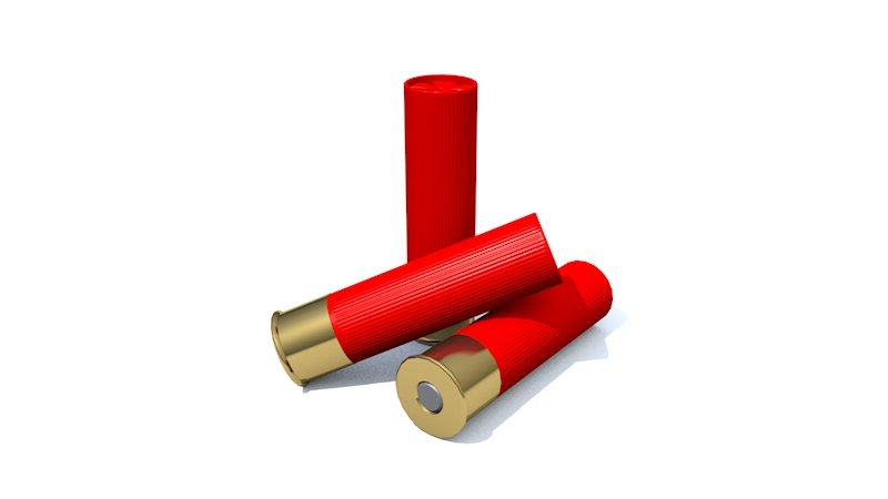 Low Poly 12 Gauge Shells 3D model