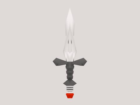 Low Poly Dagger 3D model