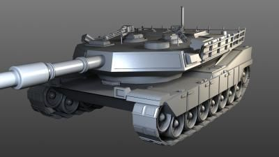 Low-Poly Tank 3D model
