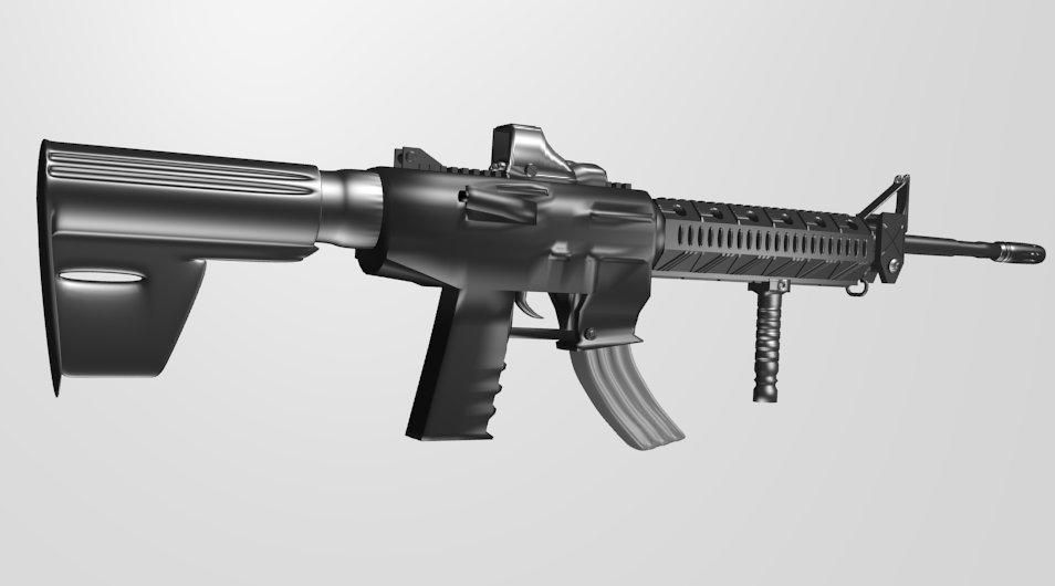 M4 Assault Rifle 3D model