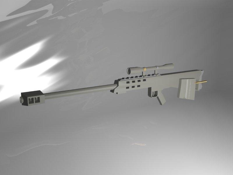 M95 Sniper rifle 3D model