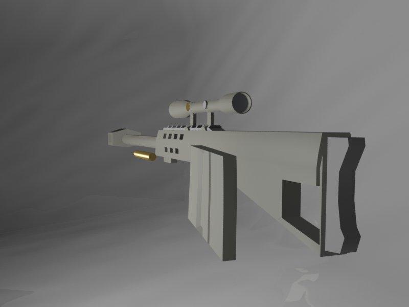 3D M95 Sniper rifle model