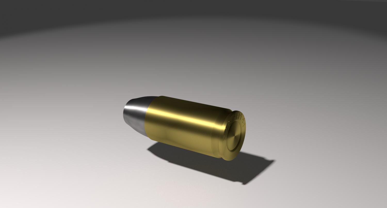 Magnum Bullet 44 3D model