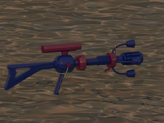 Mars Raygun 5 barrel version with paint 3D model