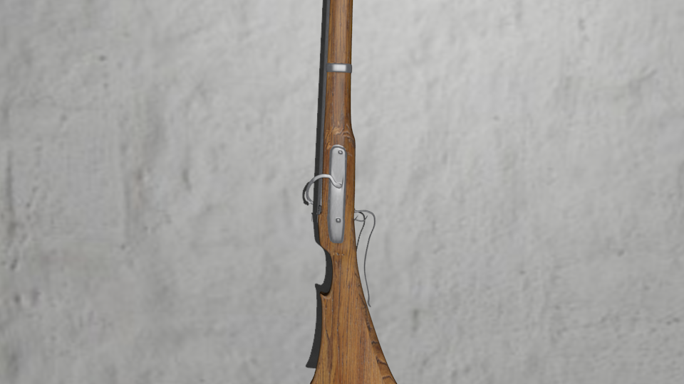 Matchlock musket or arquebus 3D model