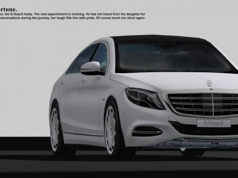 3D Mercedes Benz S-Guard white model