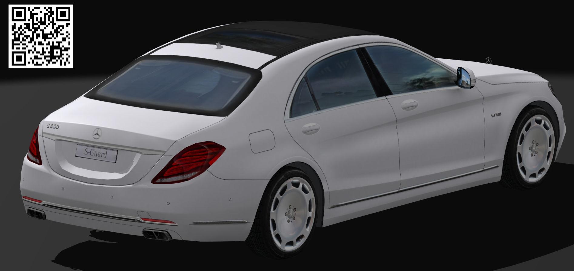 Mercedes Benz S-Guard white   DownloadFree3D.com on mercedes-benz s600 pullman guard, mercedes 600 pullman, mercedes benz g guard, mercedes e guard,