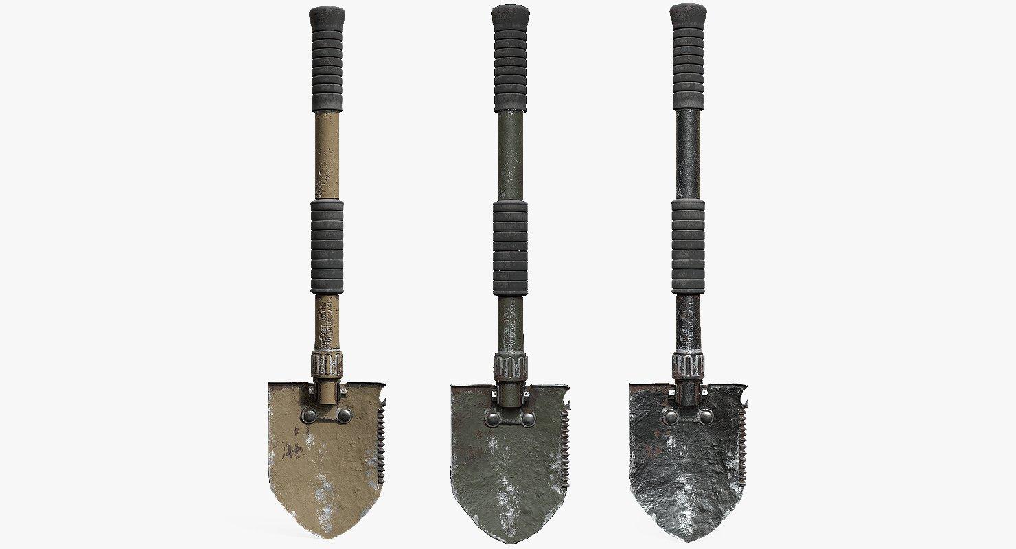Military Shovel 3D model
