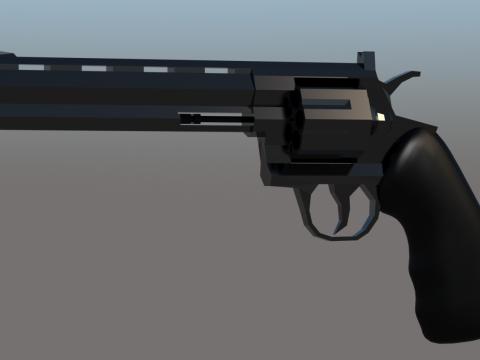 Modern Revolver 3D model