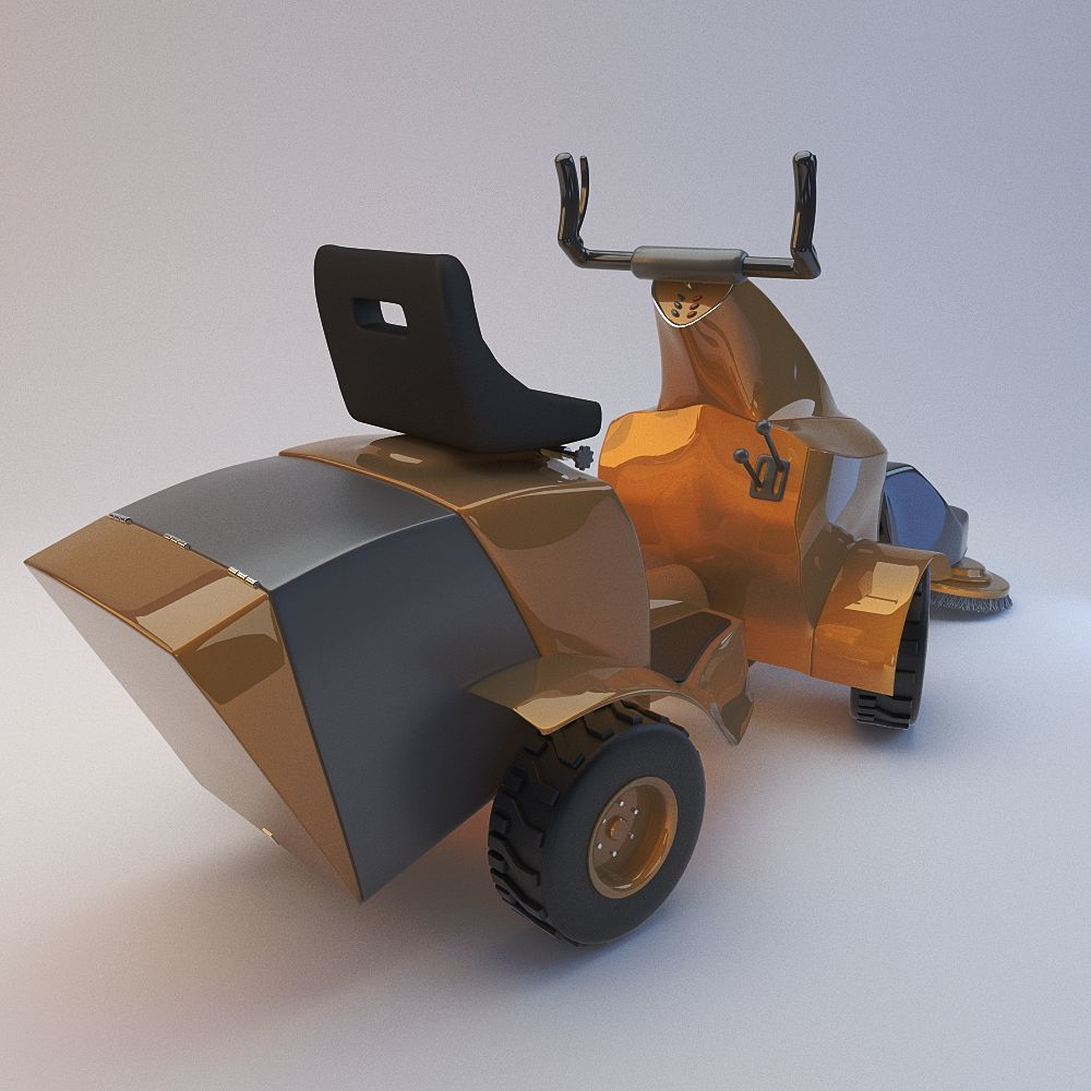 Multifunctional auto for cleaning streets 3D model