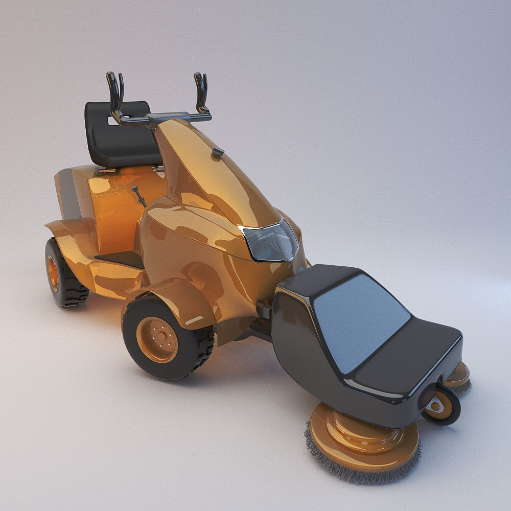 3D Multifunctional auto for cleaning streets model