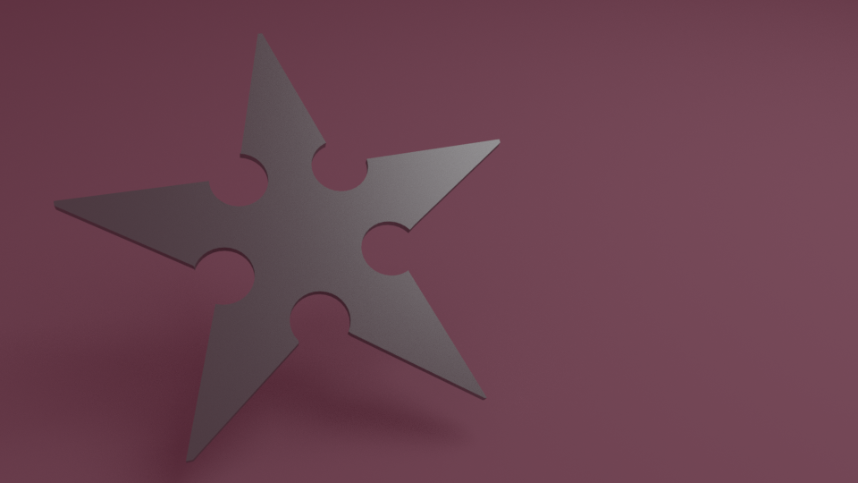 Ninja star-shuriken 3D model
