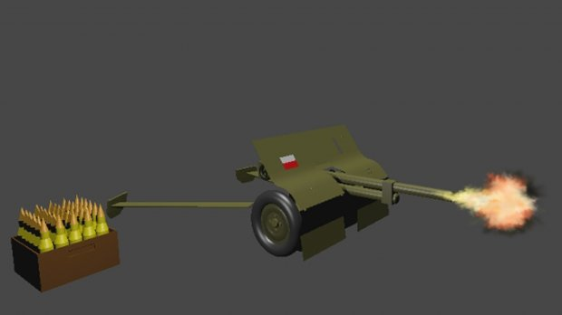 Polish Low Poly Artillery (37mm) 3D model