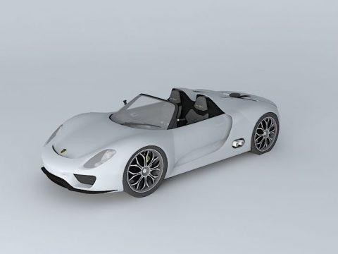 Porsche 918 Spyder Concept 2010 3D model