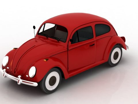 Red Beetle 3D model