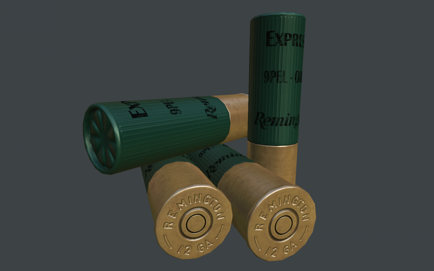 Remington 12 ga cartridge 3D model