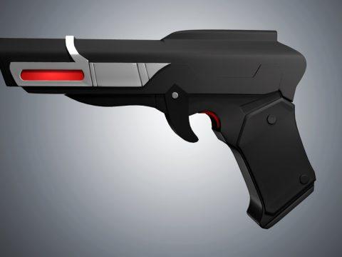 Retro Gun 3D model