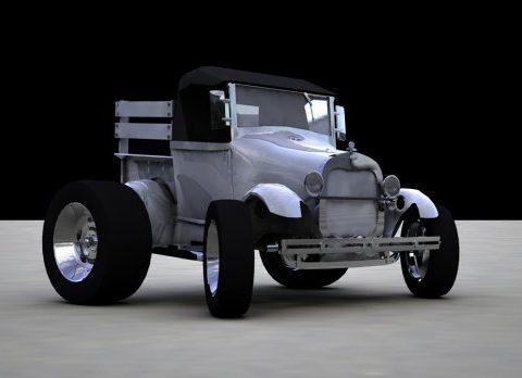 Rigged Pickup 3D model