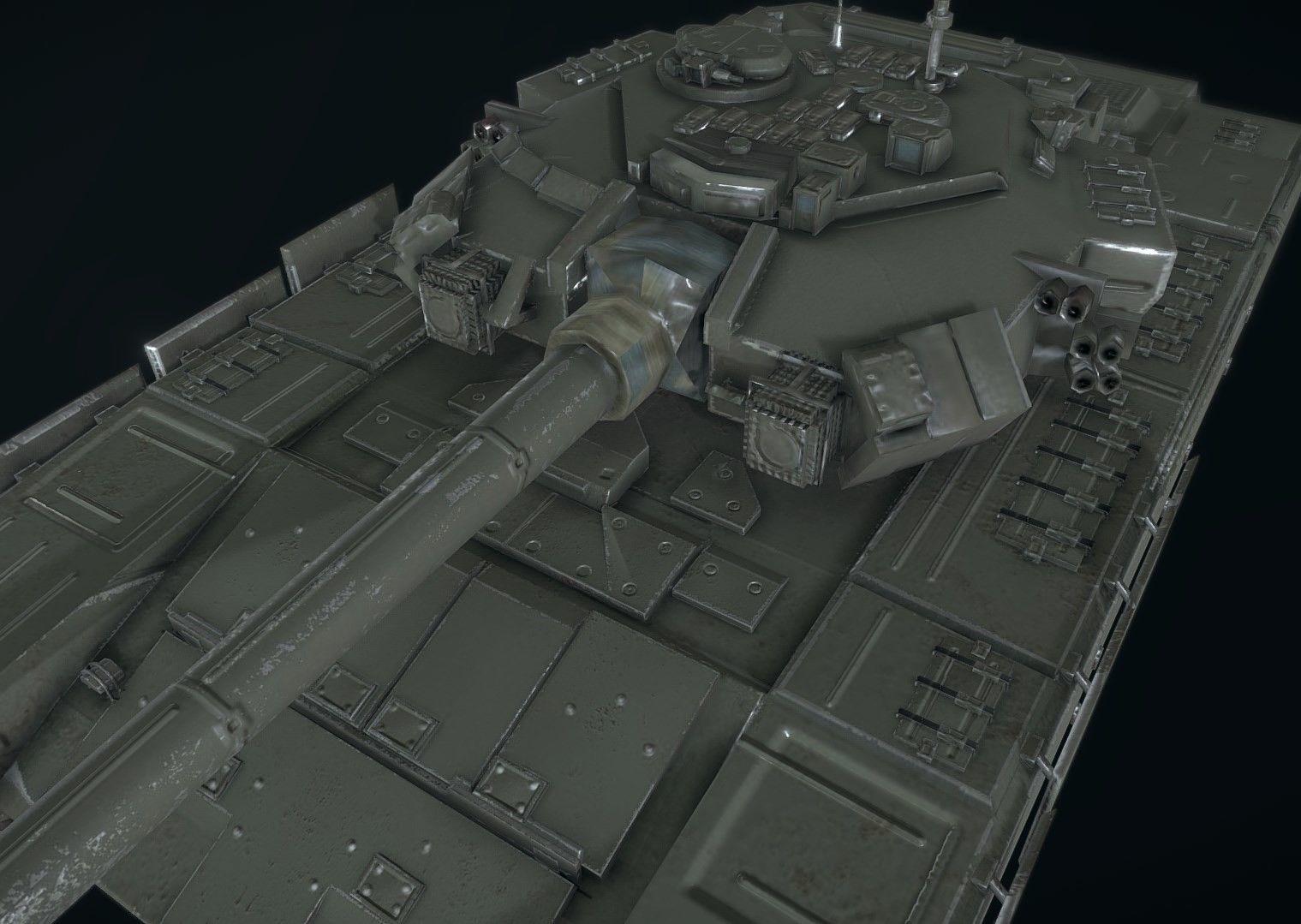 Russian Military Vehicles T90 3D model