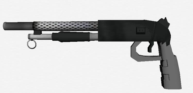 Short Gun 3D model