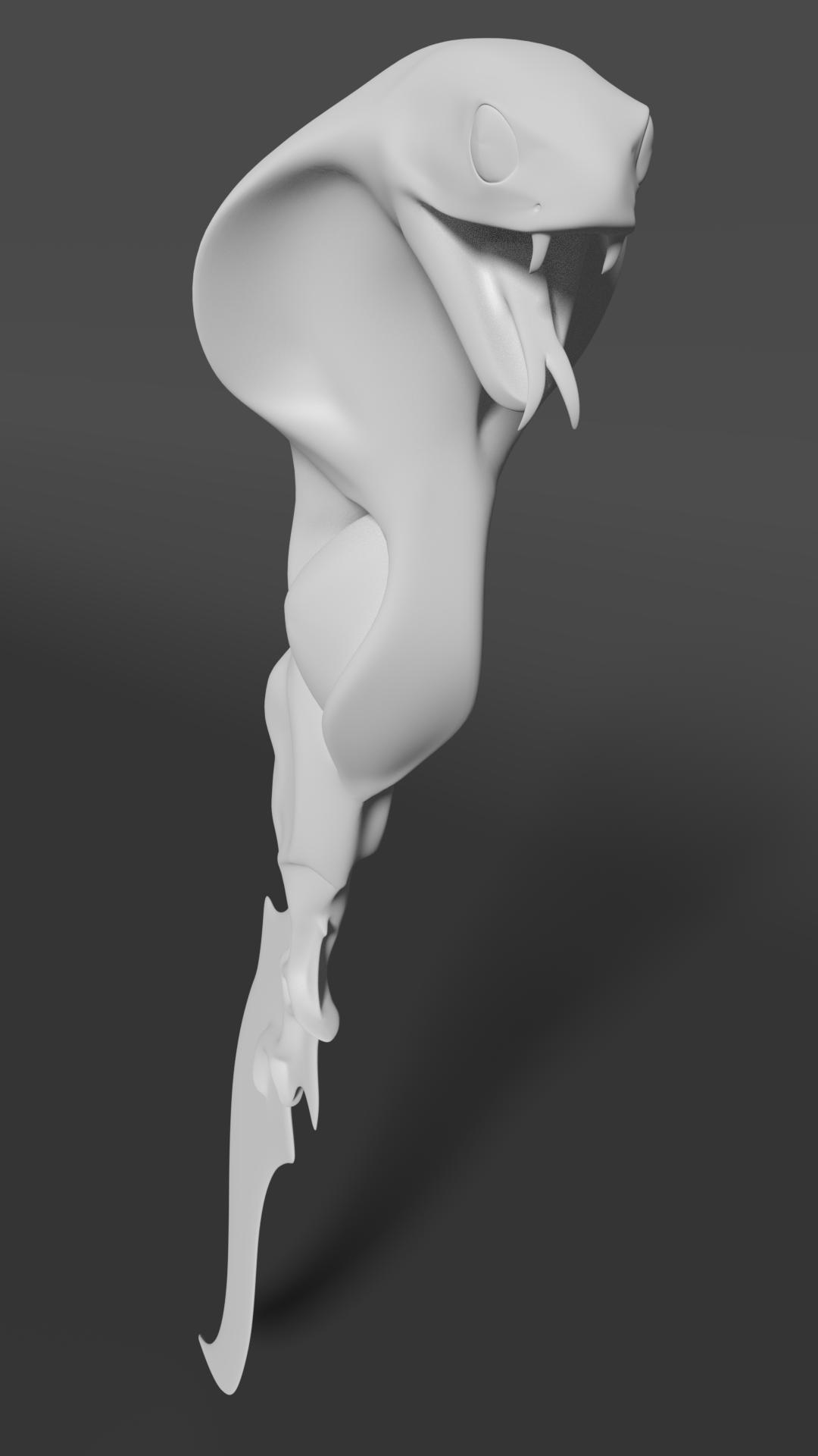 Snake dagger 3D model