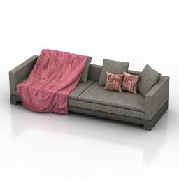 Sofa Minotti Klimt 3d model