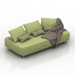 Sofa Roche Bobois Escapade 3d model
