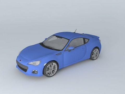 Subaru BRZ FA20 2014 3D model