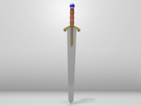 Sword with runes 3D model