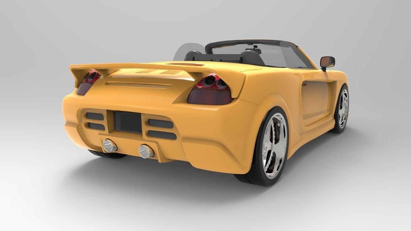 3D Toyota MRS model