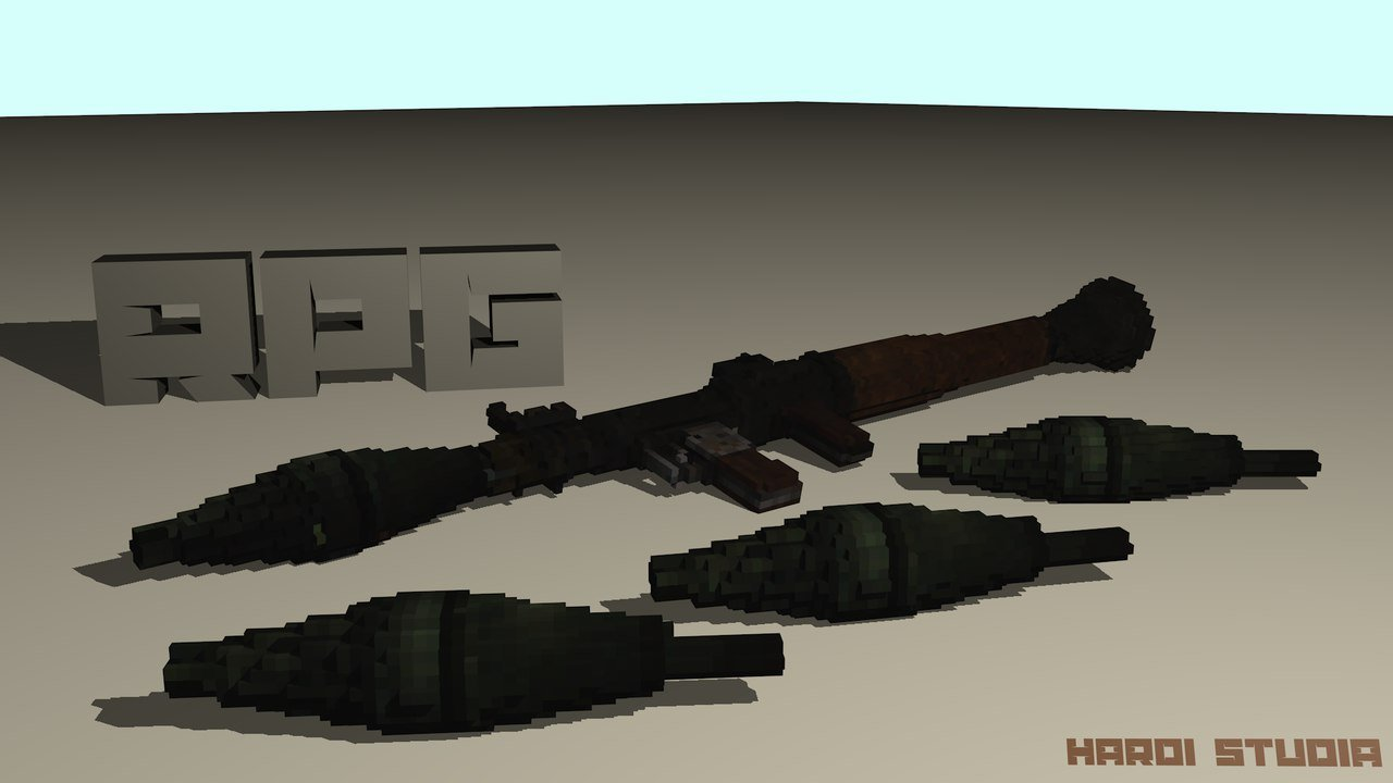 Voxel RPG 3D model
