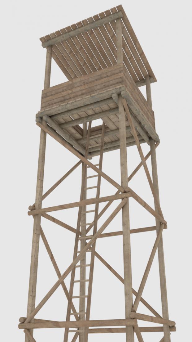 Wooden tower 3D model