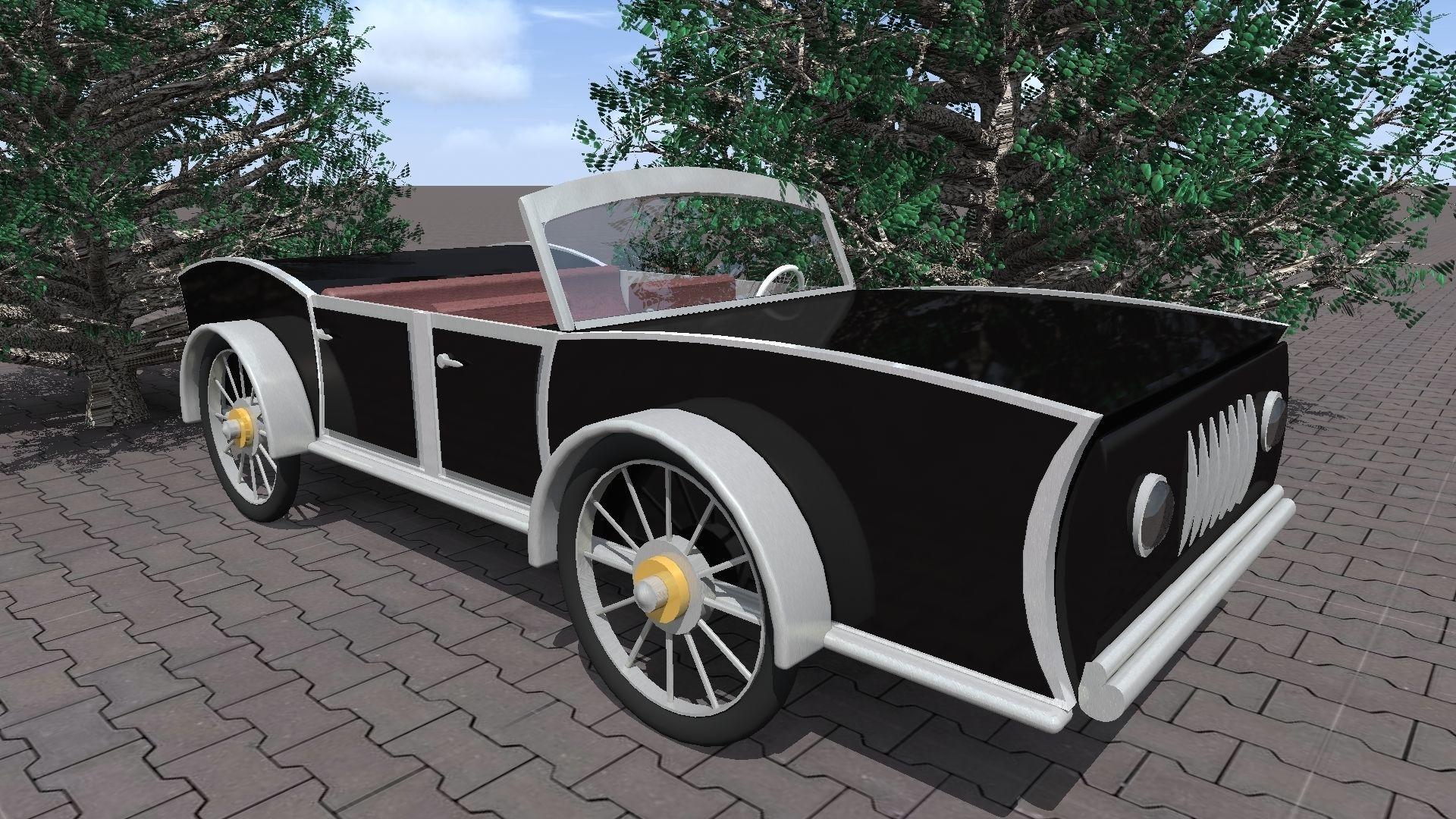Historic car 3D model