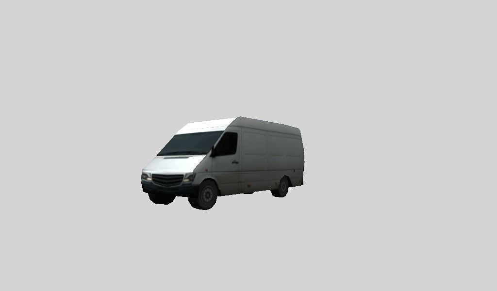 Low poly van 3D model