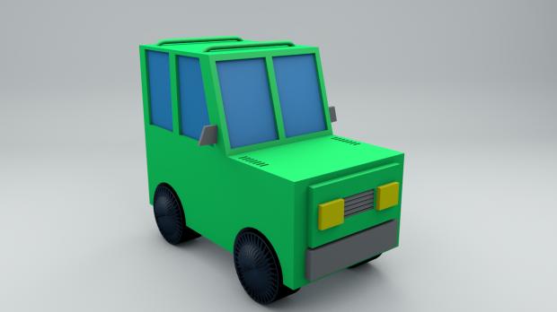 Lowpoly car 3D model