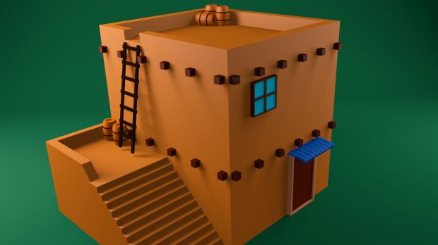 Lowpoly house 3D model