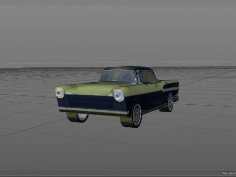 3D Simca car model