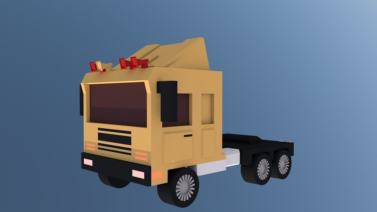 Truck zarde ghanari in iran 2017 3D model